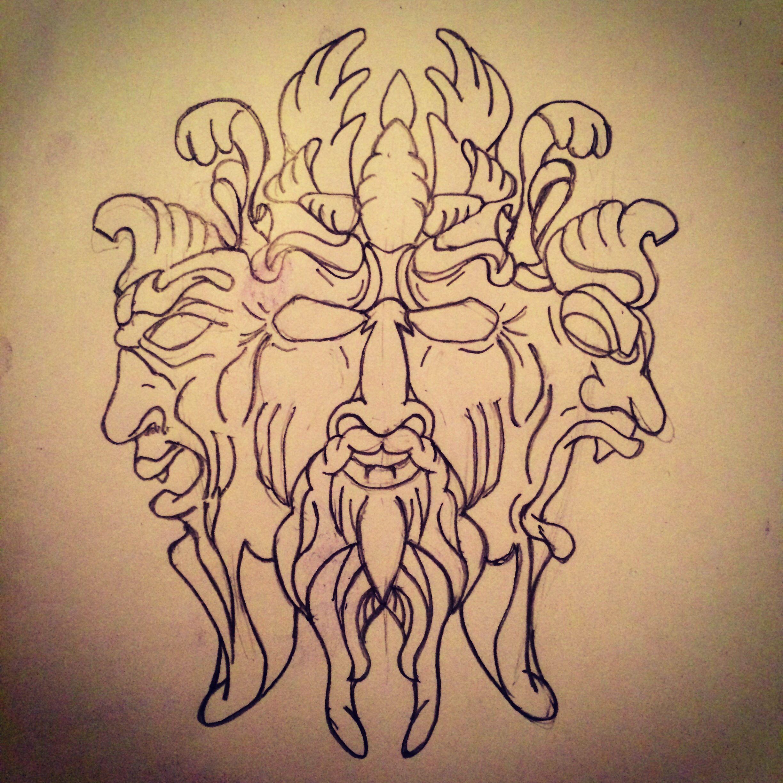 b8bfaeb8d Three faces of power tattoo s… | Tattoo Art / Sketches - All Pieces ...