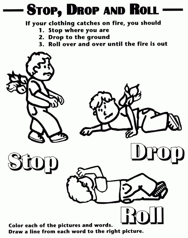 Emergency Coloring Pages Preschool Coloring Panda Fire Safety School