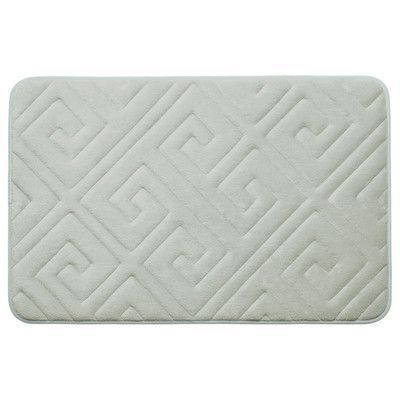 "Bath Studio Caicos Premium Micro Plush Memory Foam Bath Mat Color: Light Grey, Size: 20"" L x 32"" W"