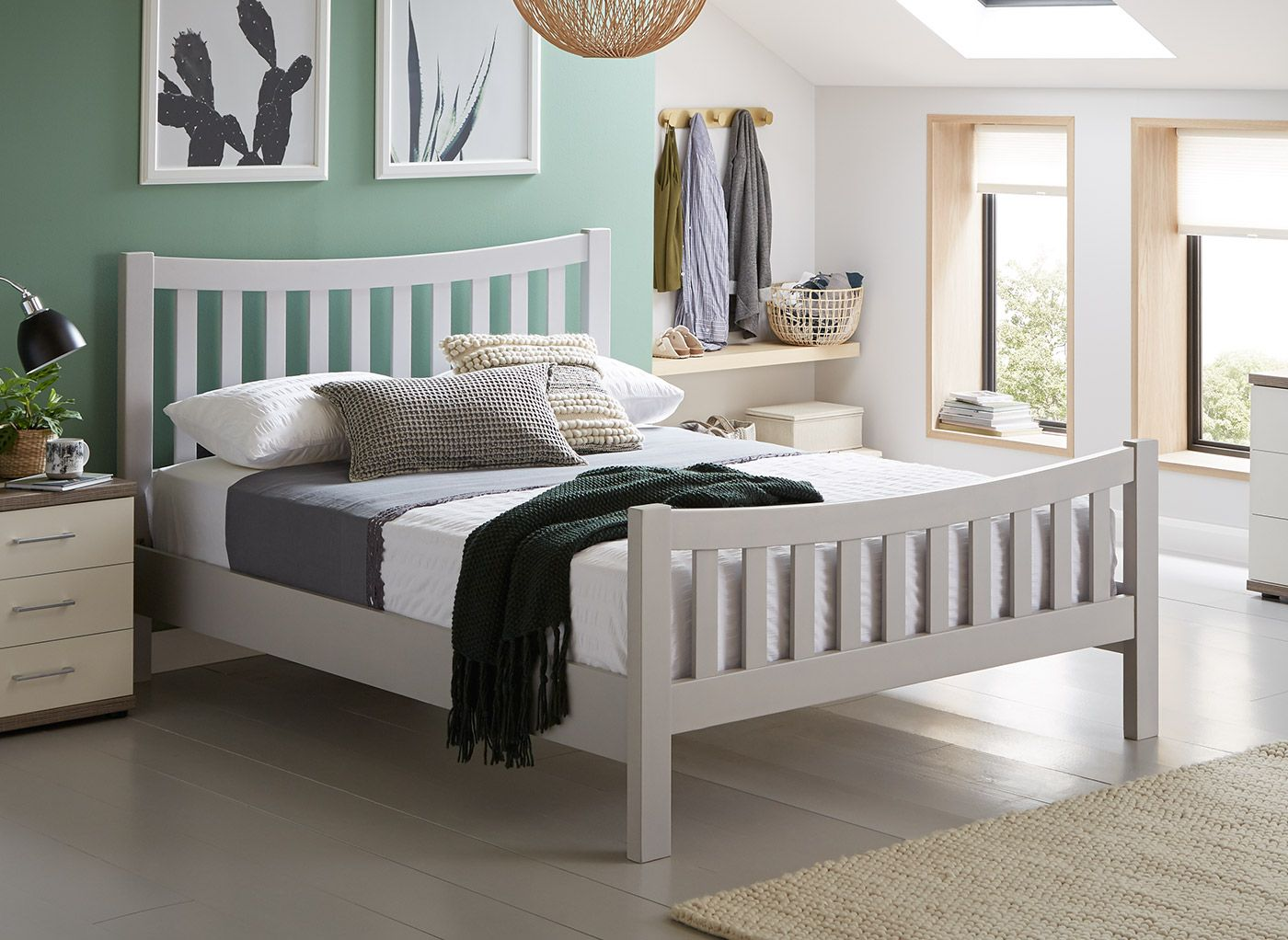 Pin By Ashleigh Hickman On Bedroom Painted Bed Frames Grey