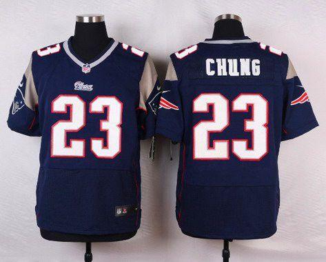 a062511c706 ... Jersey Mens New England Patriots 23 Patrick Chung Navy Blue Team Color NFL  Nike Elite… 2015 ...