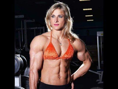Massive Muscular Fbb Female Bodybuilder  Youtube