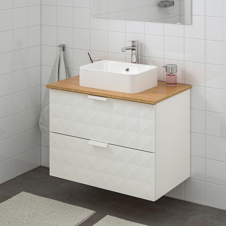 Godmorgon Tolken Horvik Waschbeckenschr Aufsatzwaschb 45x32