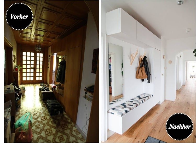 Photo of Vorher Nachher Eingangsbereich Flur Vorzimmer Wohnprojekt Blog