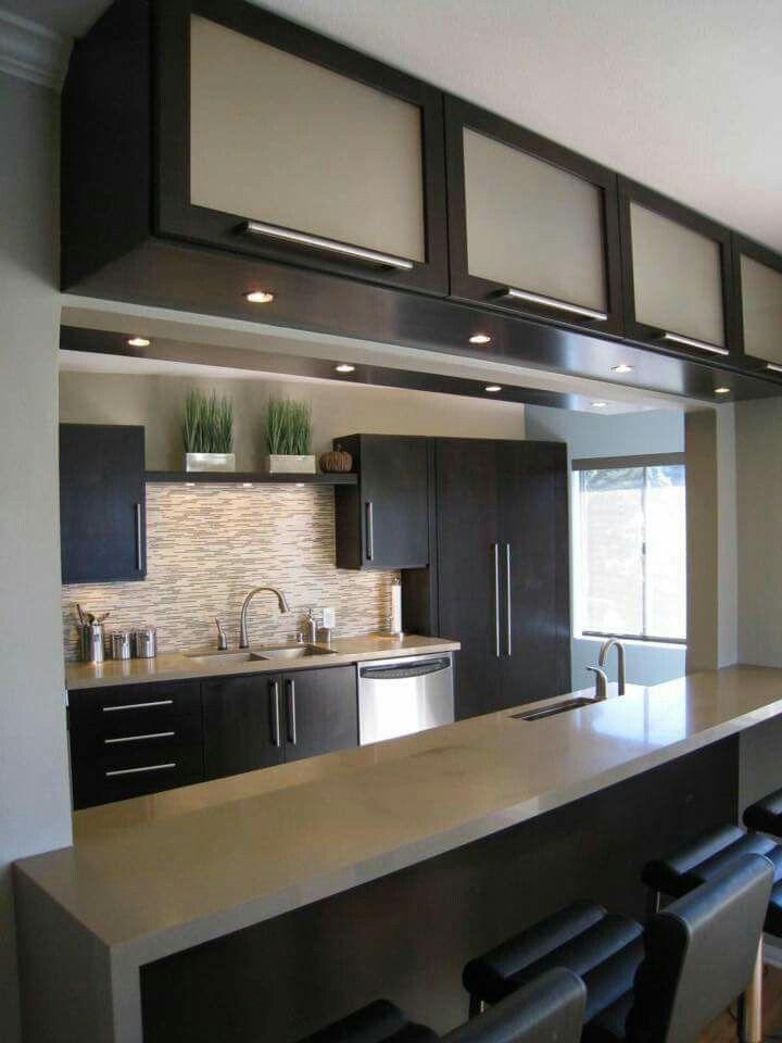 Black and beige | Kitchens | Pinterest
