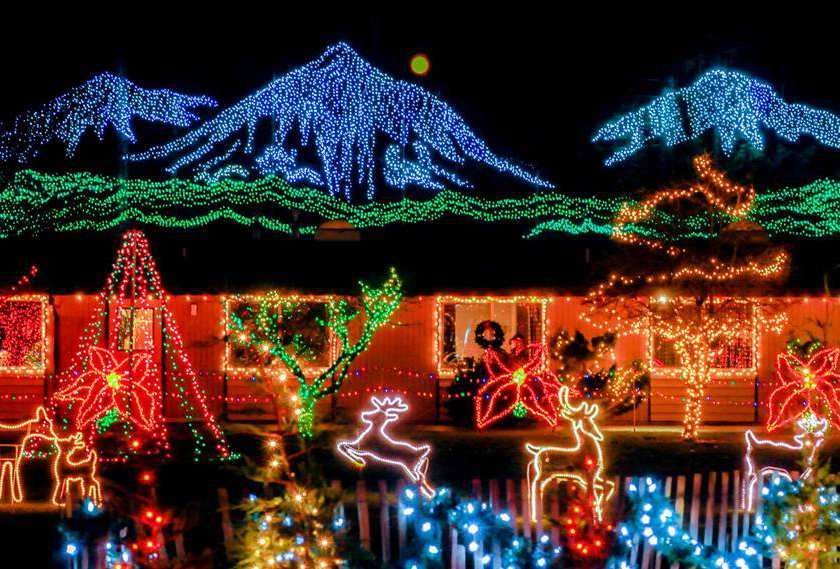 The Lights of Christmas at Warm Beach in Stanwood, Wash., features more  than 1 million twinkling bulbs and vibrant holiday festivities. - The Lights Of Christmas At Warm Beach In Stanwood, Wash., Features