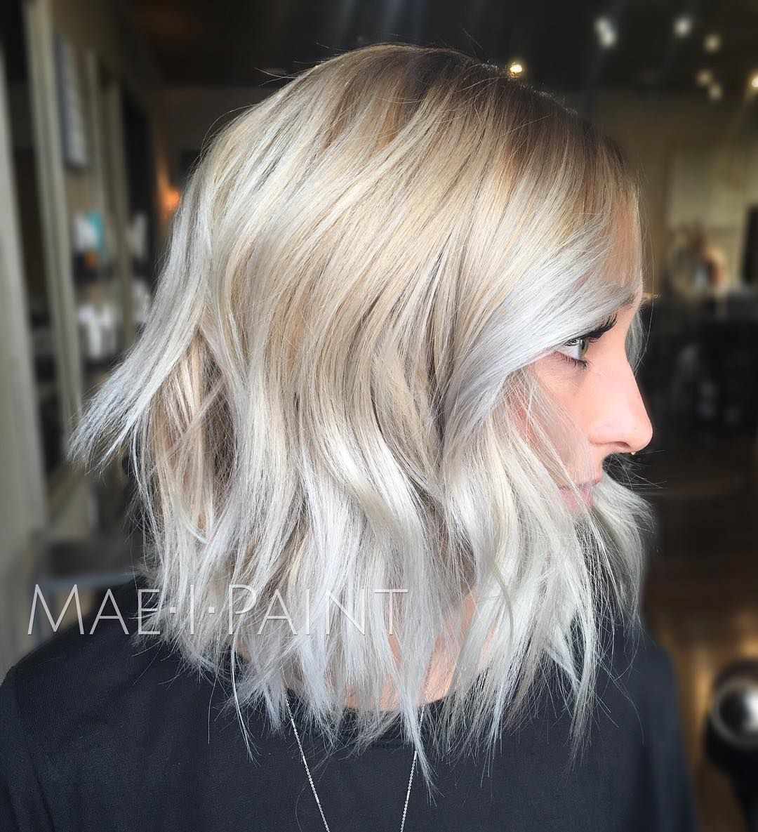 Icy blonde of the day  This girl has SO much hair itus unreal