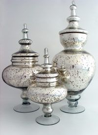 C S Post Co Mercury Glass Decor Mercury Glass Diy Glass Jars
