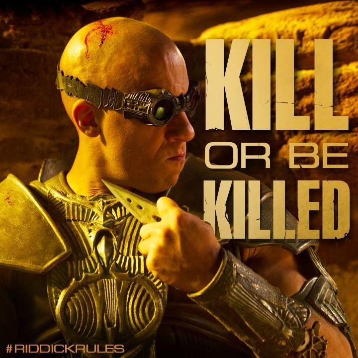 Vin Diesel in Riddick | Vin diesel, Actor quotes, Science ...
