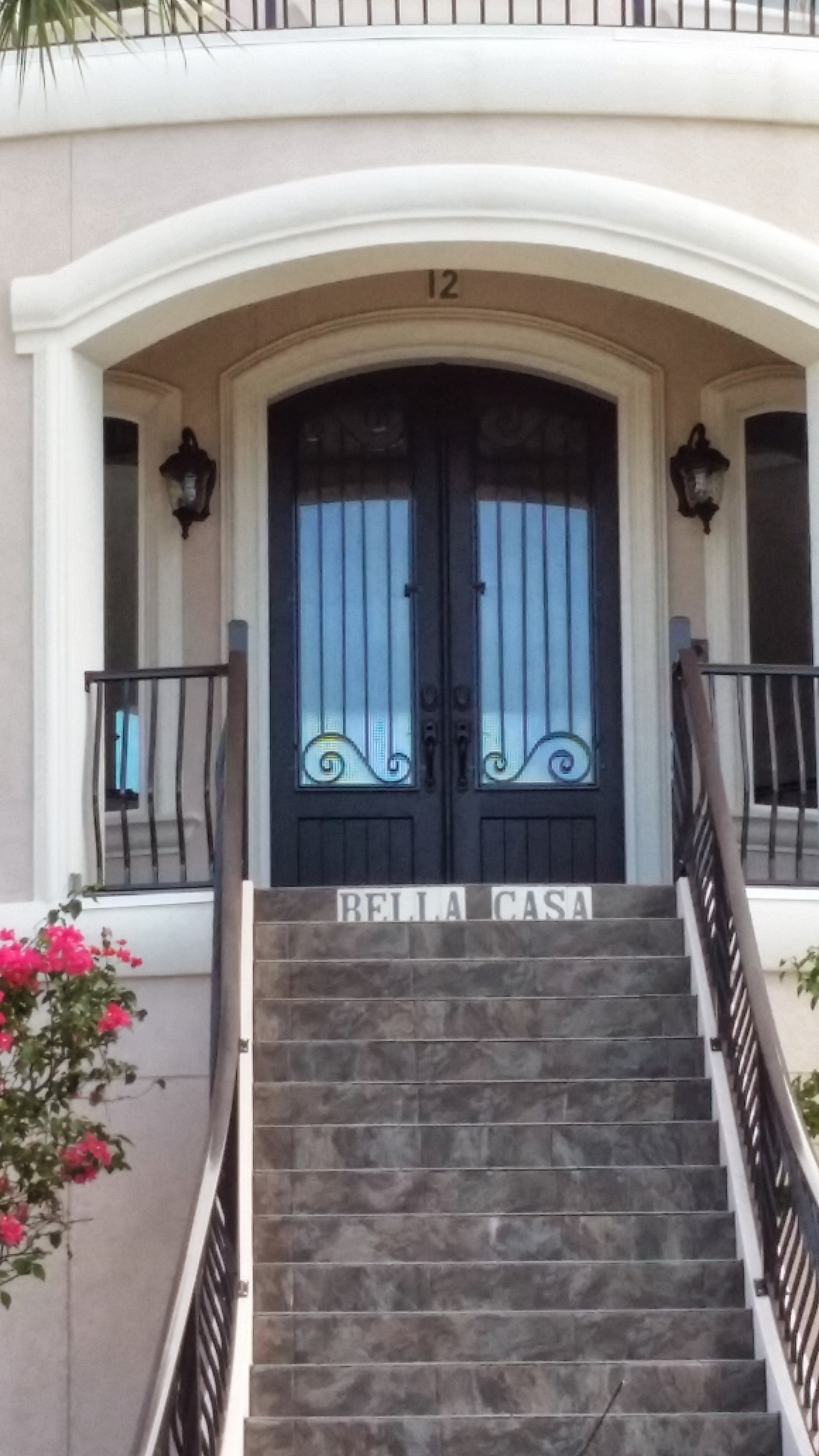 Heres Another Wrought Iron Arch Top Double Entry Door For Your Viewing Pleasure