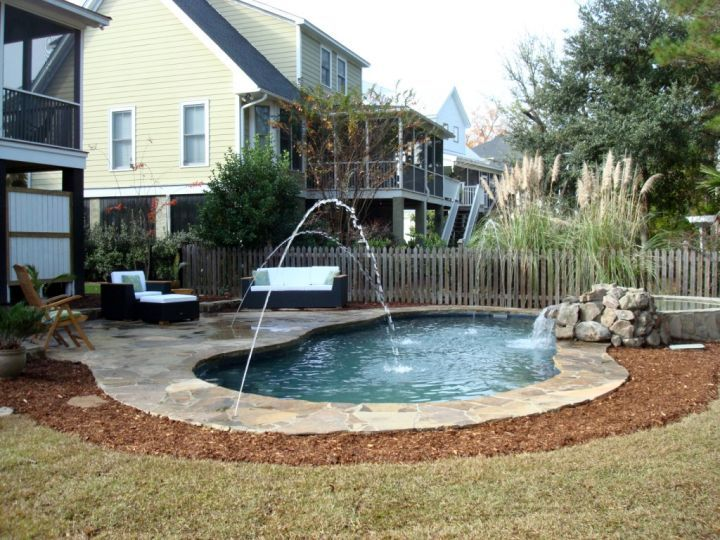 Check Out These 17 Affordable Small Pool Ideas To Fit Your Budget And Get Inspired Now Small Swimming Pools Pool Landscaping Small Backyard Pools