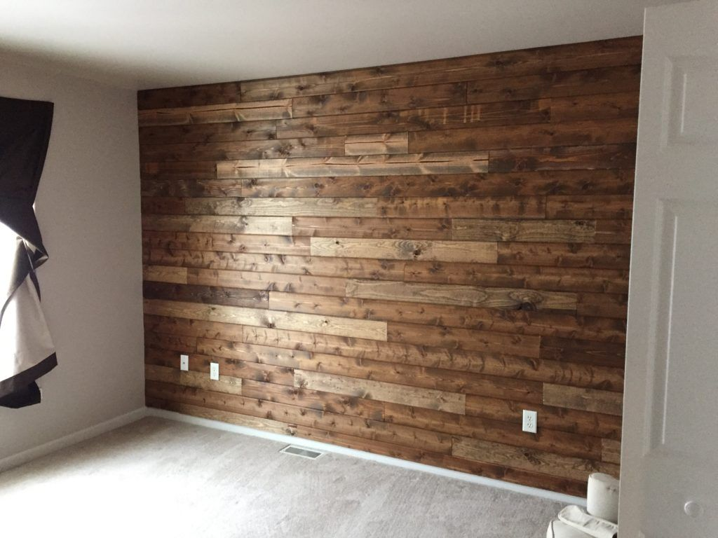 Wooden Accent Wall Tutorial – Living with Lady #woodenwalldecor