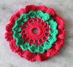 Image result for centros de mesa navideños tejidos a crochet