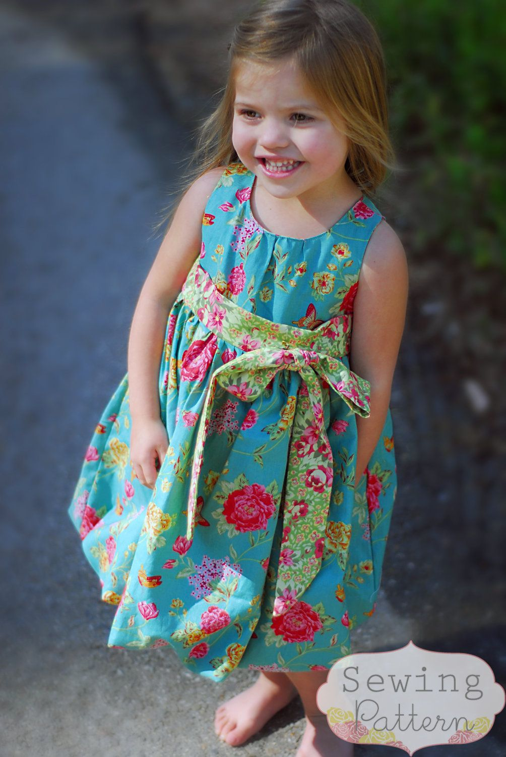 Bubble Dress (Sizes 3/6 months up to Size 6) PDF Sewing Pattern and Tutorial. $6.00, via Etsy.
