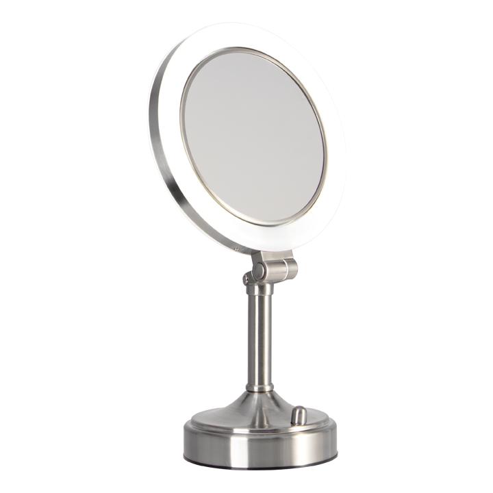 Pedestal Vanity Mirror Dual Sided 10x 1x Lighted Vanity