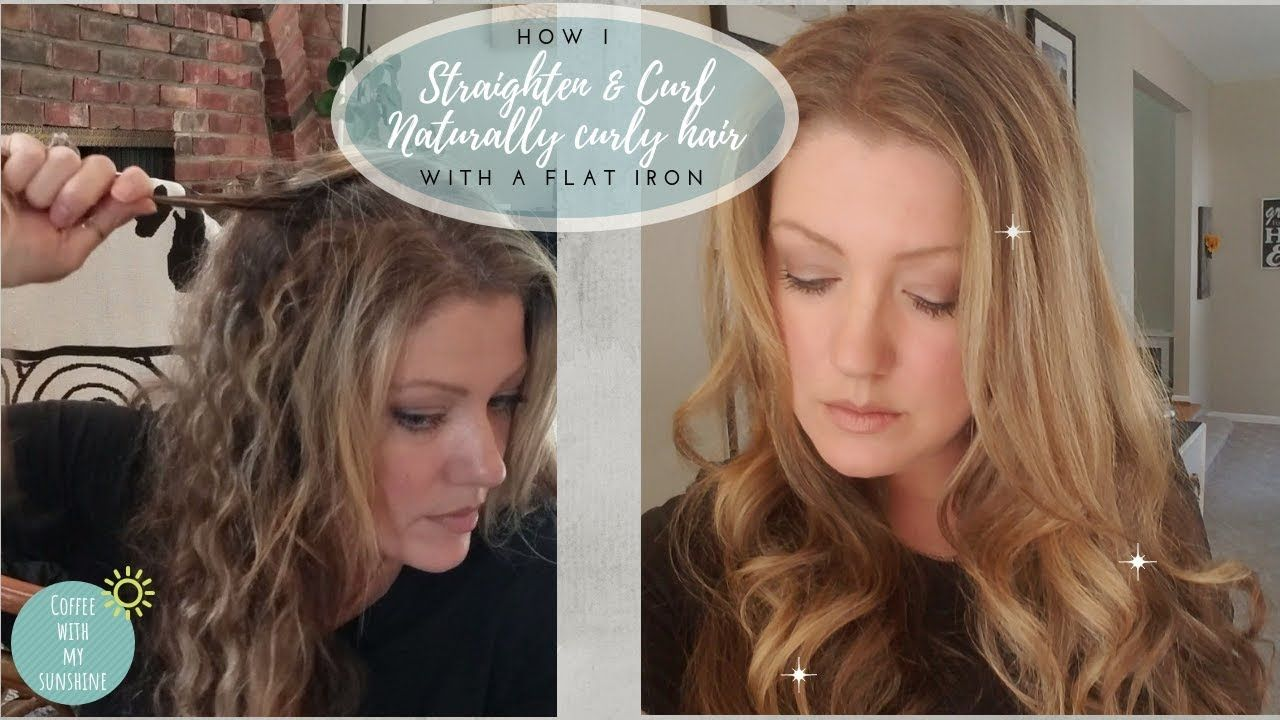 How to straighten and curl naturally curly hair with a