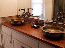 Teak Wood Countertop Photo Gallery Bathroom Countertops Bathroom Countertops Diy Wood Countertops