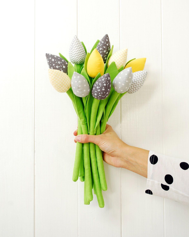 tissu fleurs tissu tulipes mariage bouquet coton fleurs printemps