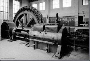 This Is A Photo Of One Of The Large Steam Engines That Would Have