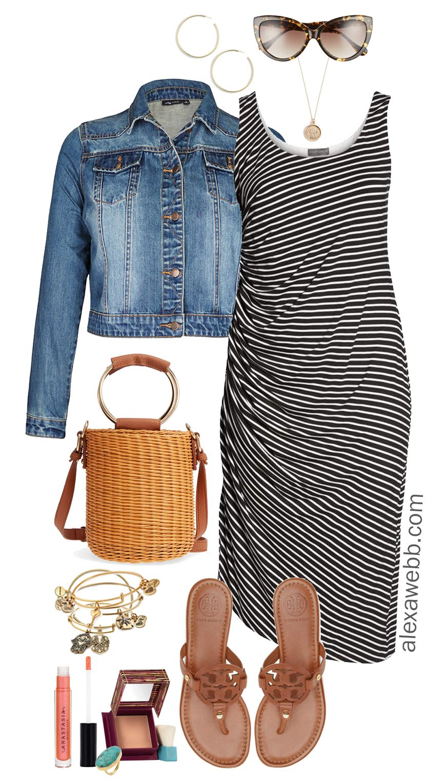 Photo of Plus Size Striped Dress Outfit – Alexa Webb