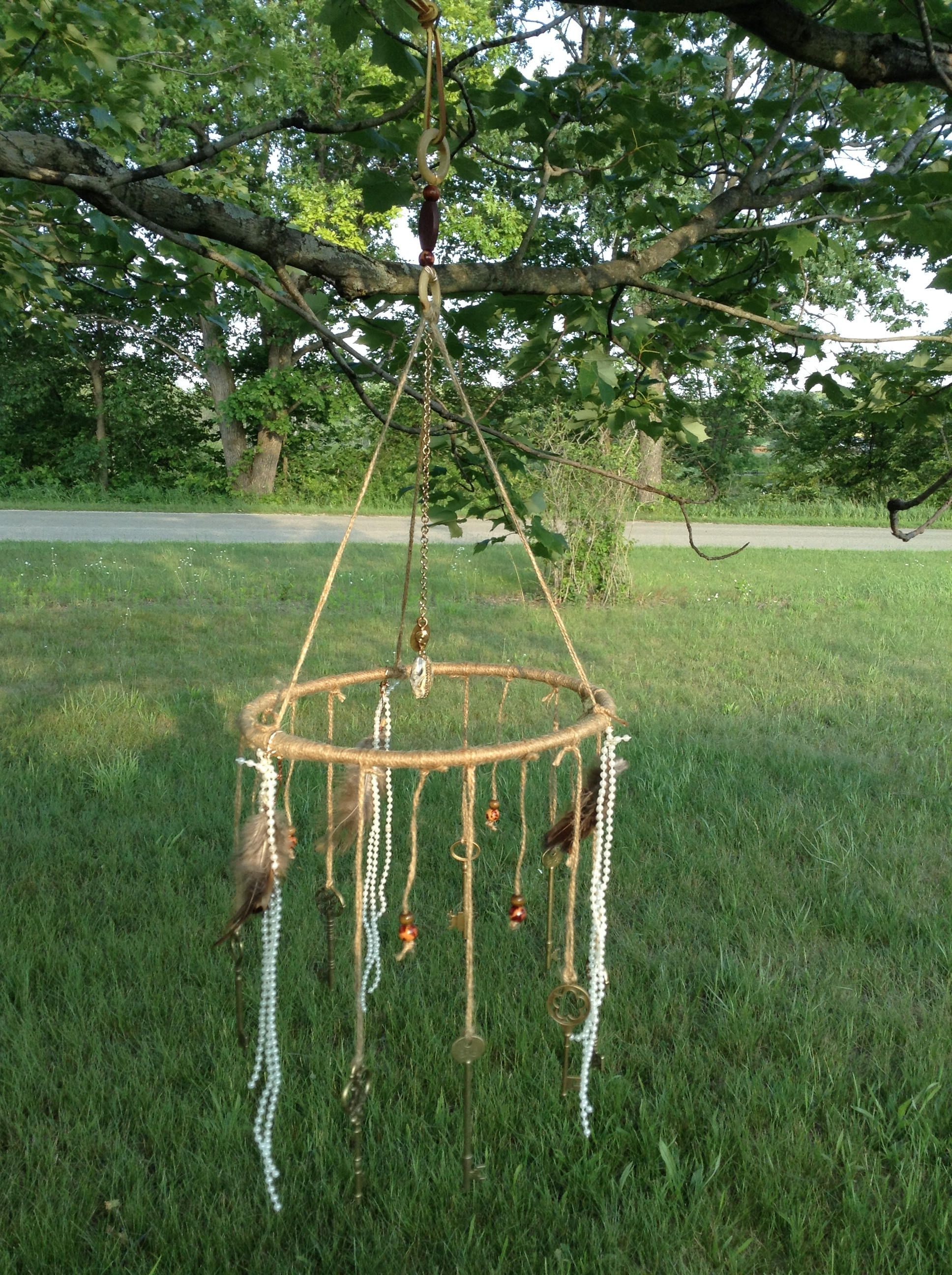 BOHO-GYPSY-WHIMSICAL wind-song, wind chime, upcycle, repurpose ...