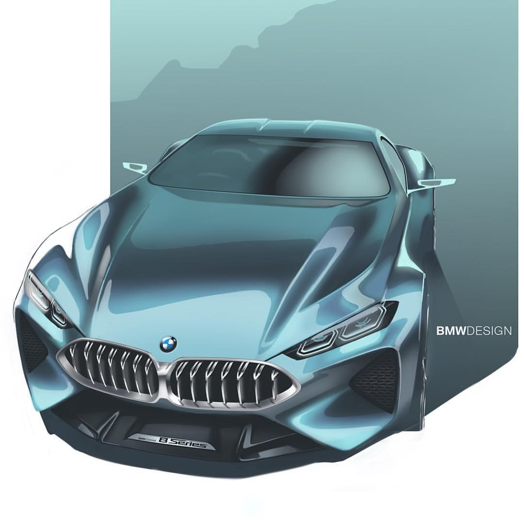BMW 8 Series Concept official sketch | Transportation Design ...
