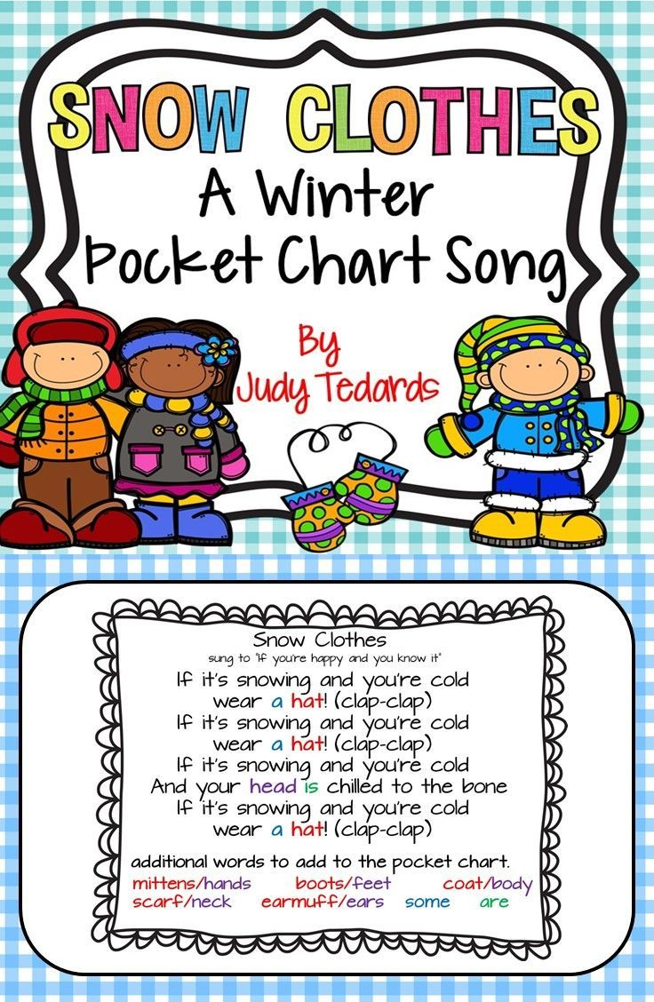 Snow clothes is  fun winter pocket chart song sung to the tune if your happy and you know it  have included variety of pictures can add also all things tpt rh pinterest