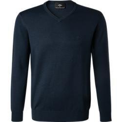 Photo of Fynch-Hatton Pullover Männer, Merinowolle, blau Fynch Hatton