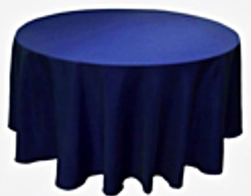 Navy Blue Round Tablecloth Wedding Tablecloth Overlay Table Topper