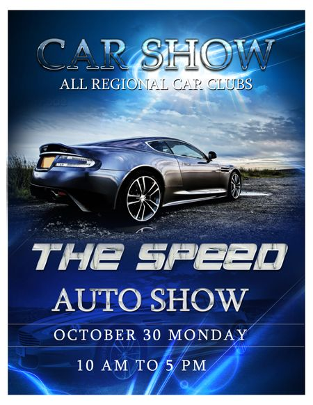 Car Show Flyer Template Auto Show Flyer Template - Trendy Flyers - car flyer template