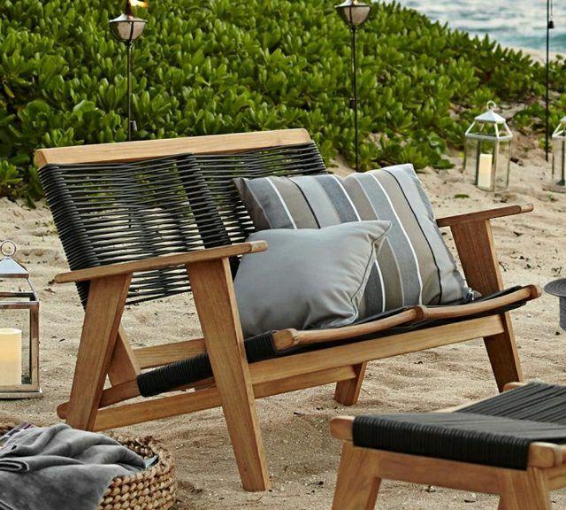 Canap ext rieur 47 id es de coin salon de jardin for Mobilier exterieur bois