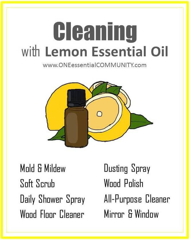 8 DIY Recipes For Cleaning With Lemon Essential Oil {plus A Free Printable