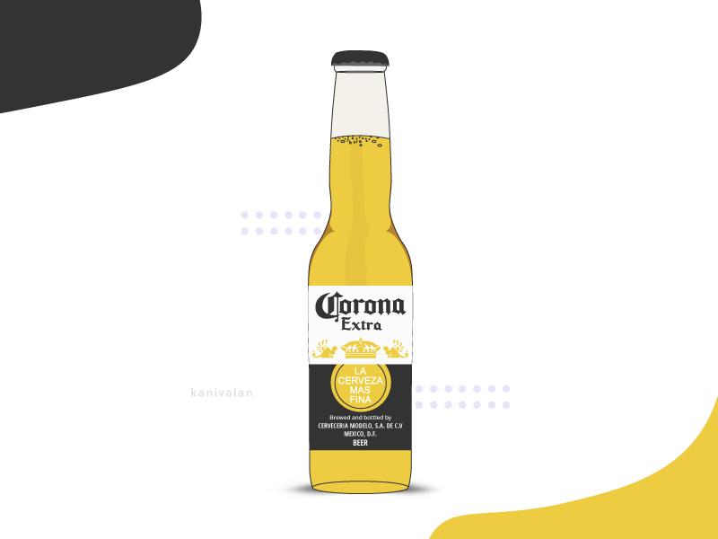 Corona Beer Bottle Illustration Corona Beer Bottle Beer Bottle Beer