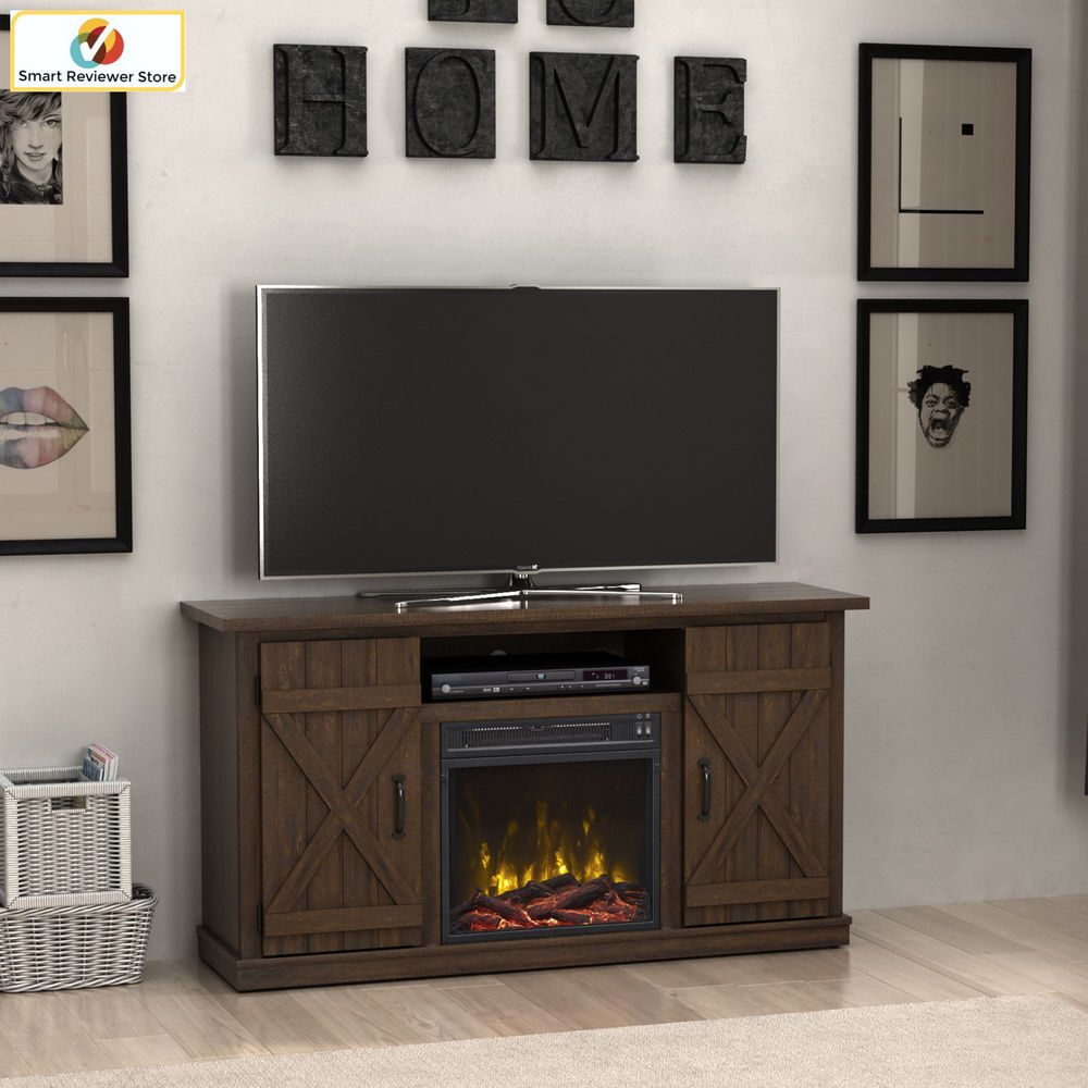 58 Inch Tv Stand With Fireplace Media Console Electric