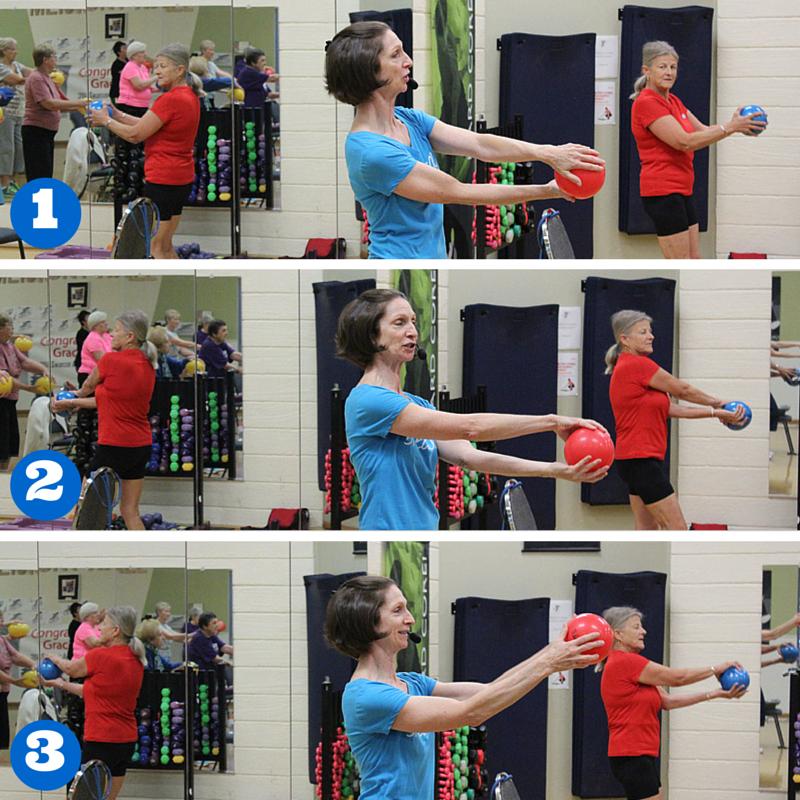 Ball exercises for seniors   Senior