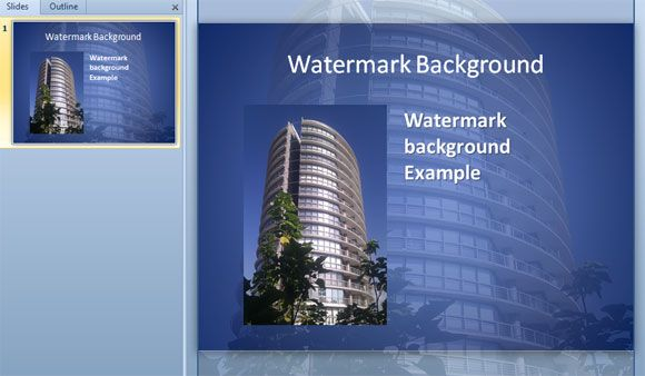 How to create watermark backgrounds for powerpoint how to embed this technique gives you the chance to design unlimited free powerpoint templates that you can use for your presentations with your own backgrounds as toneelgroepblik Images