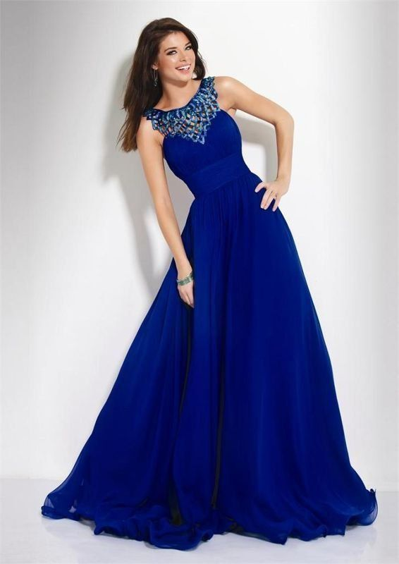 Elegant New Royal Blue Chiffon Bridal Wedding Dress Bridesmiad Evening Gown Party  Prom Ball Custom Size And