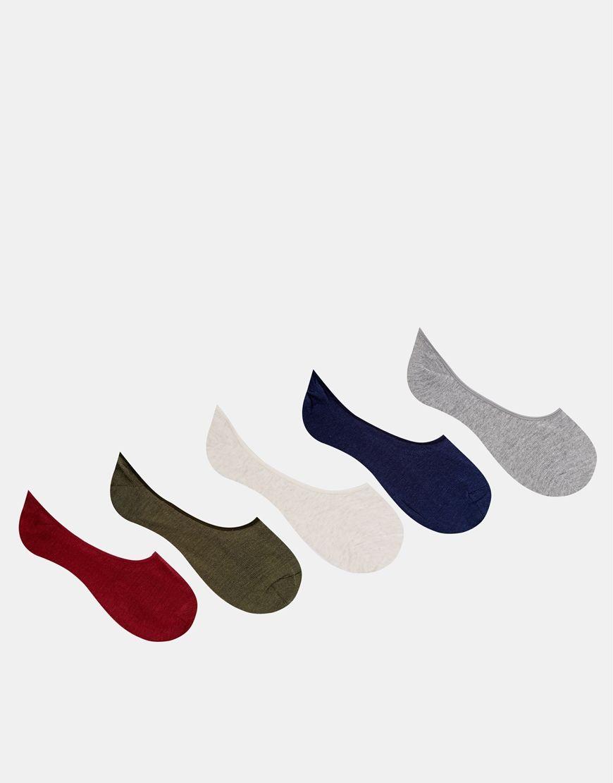 ASOS 5 Pack Liner Socks 10
