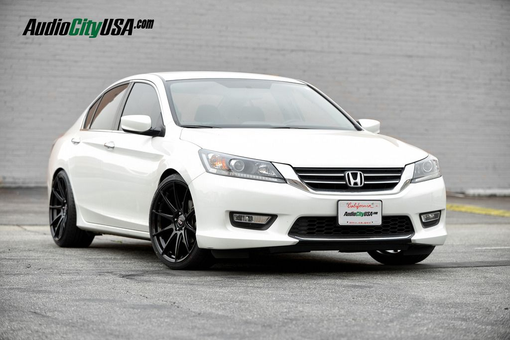 2013 honda accord 20 str wheels 524 glossy black staggered deep concave wheel and tire set up. Black Bedroom Furniture Sets. Home Design Ideas