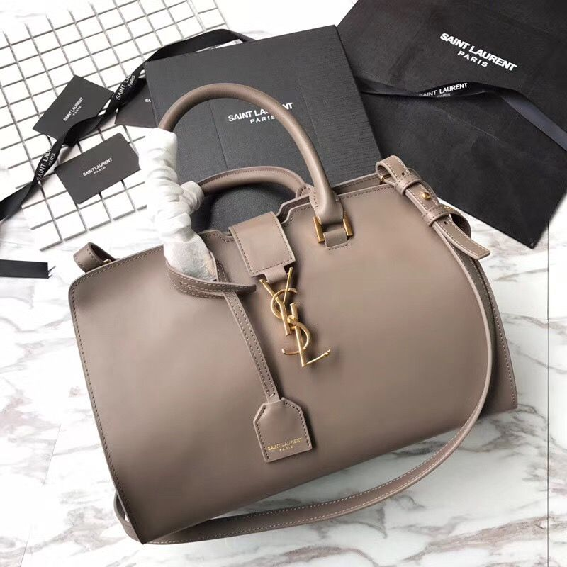 Ysl Saint Laurent woman cabas tote bag with strap original leather version 9b2fa1aecfbbf