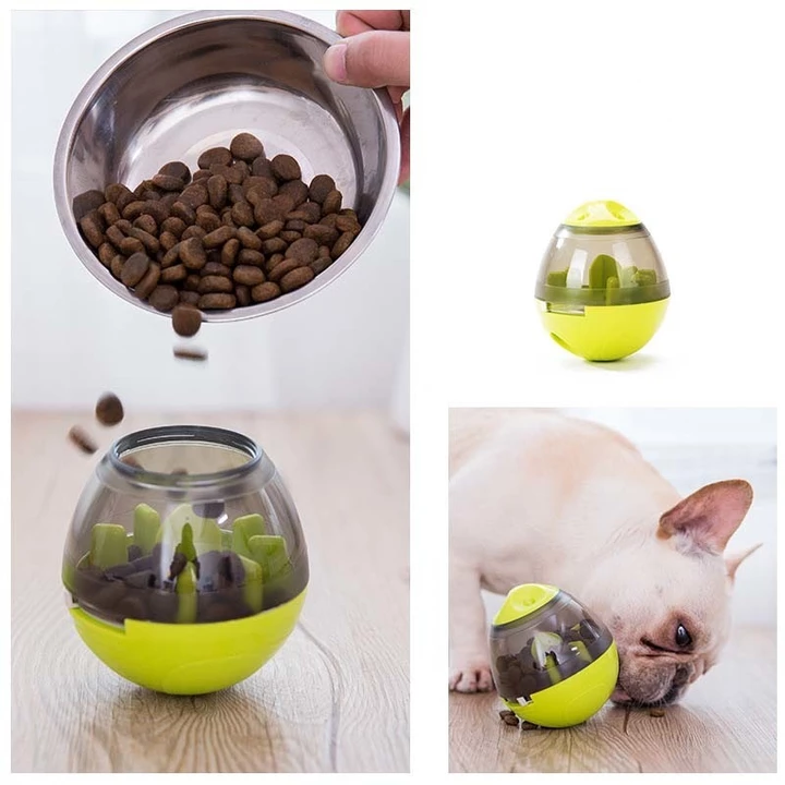 Info's : funny interactive dog cat food treat ball toy