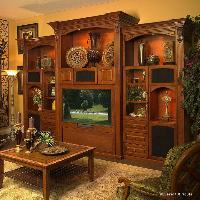 50 Best Home Entertainment Center Ideas: Customized Wood Entertainment Centers