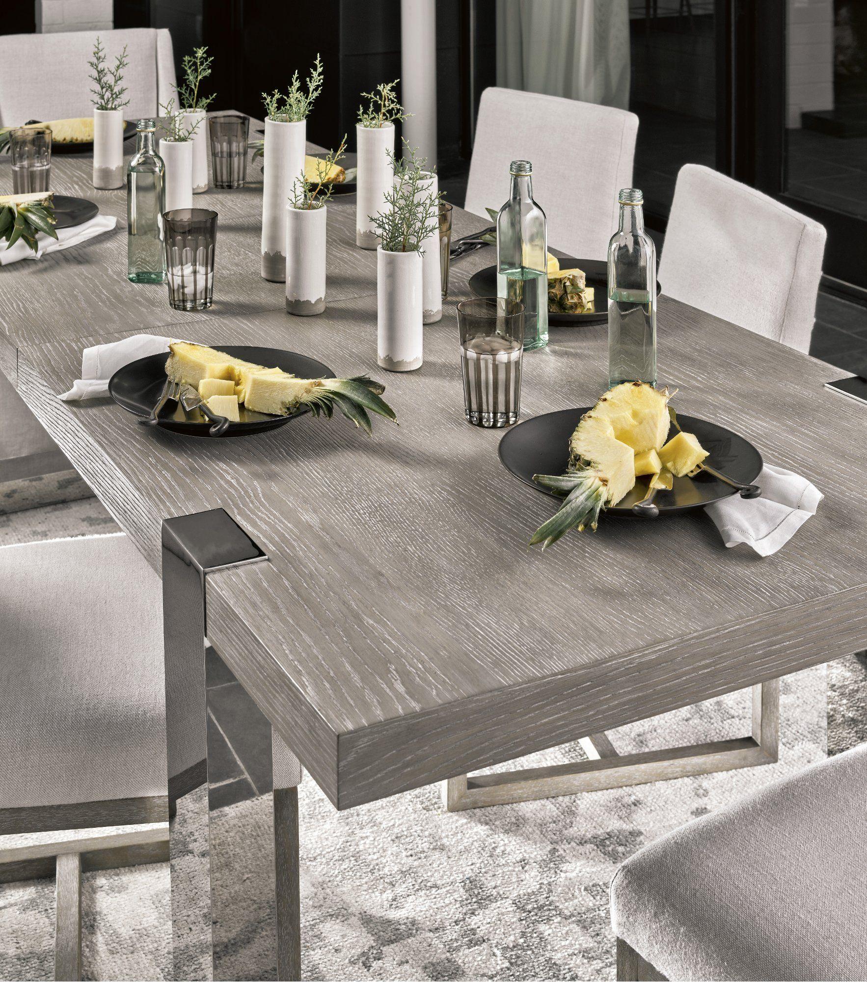 Linen Gray Modern 9 Piece Dining Set   Modern   RC Willey ...