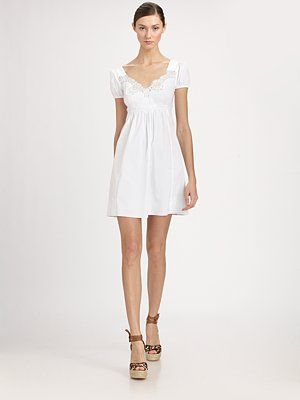 Dolce & Gabbana Babydoll Cotton Dress