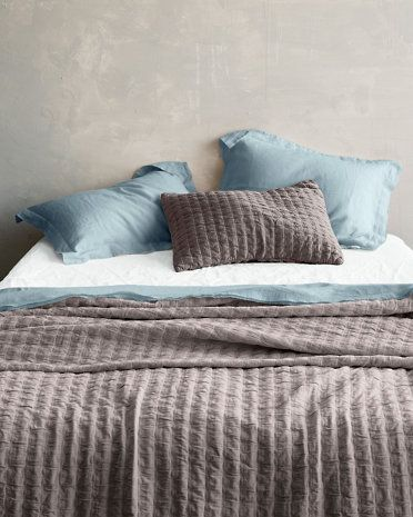 Amazing Eileen Fisher Rippled Organic Cotton Coverlet And Shams   Garnet Hill ::  $228 (Dapple