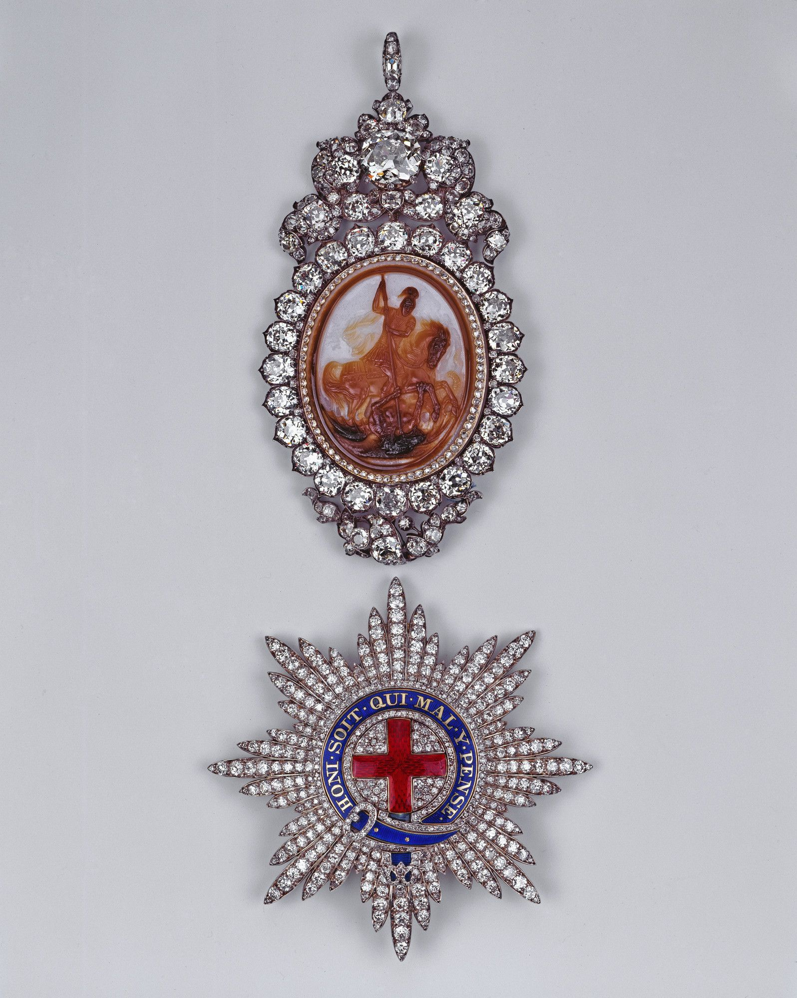 Prince Albert S Lesser George Cameo By Edward Burch C 1760 Set For George Iv 1829 Reset With Additi British Crown Jewels Order Of The Garter Royal Jewels