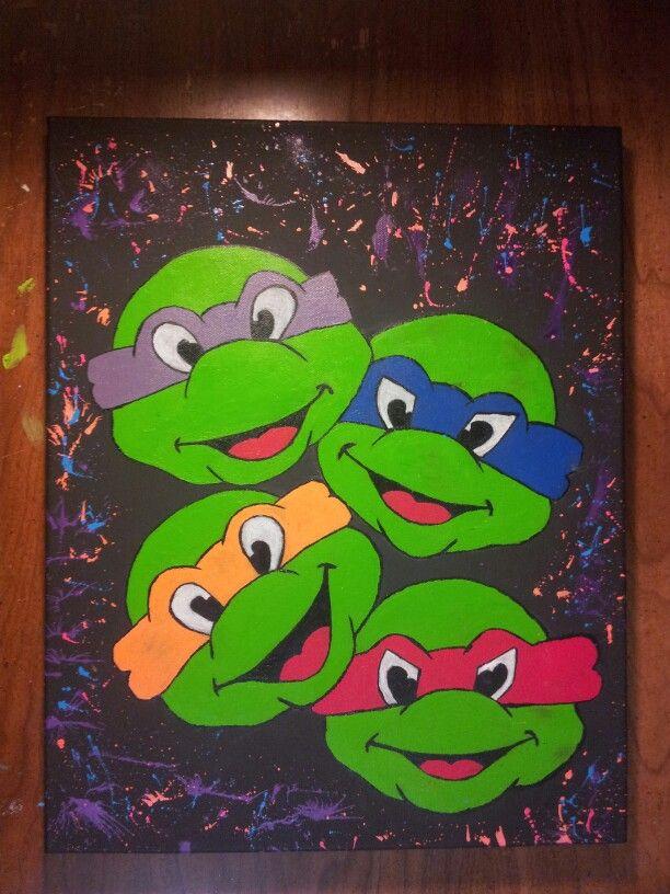 Ninja Turtles Canvas Painting Graffiti Style Turtle Painting Turtle Painting Canvas Cute Canvas Paintings
