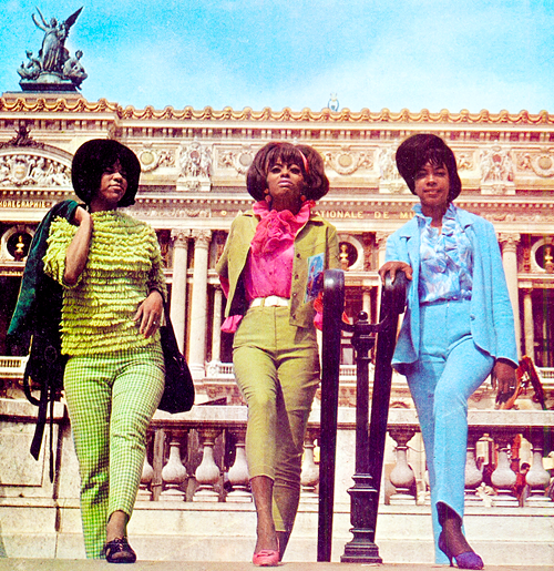 The Supremes in Paris c. 1960s (via)