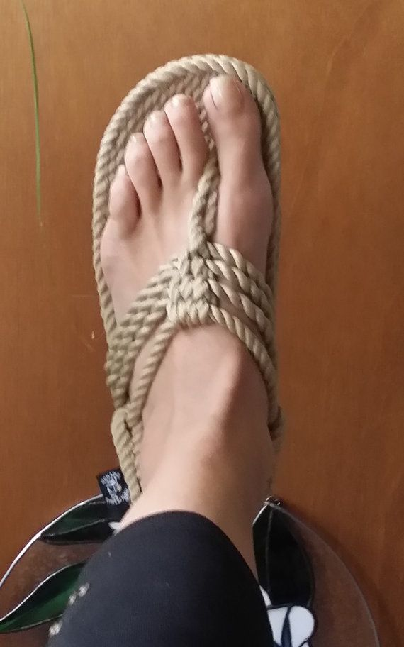 FREE SHIPPING in USA - New Addition - Handmade Jester Rope Sandals