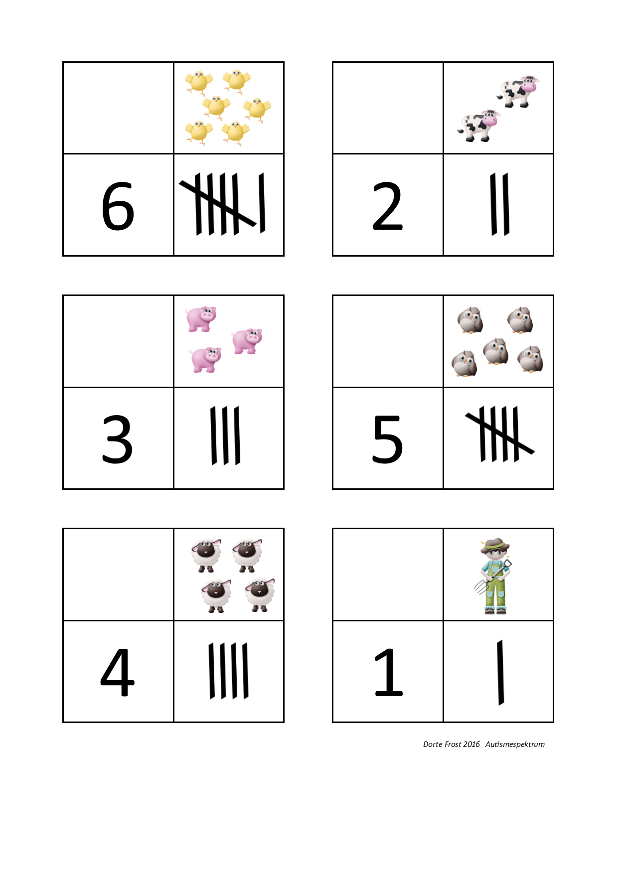 Tiles For The Tally Number Math Sorting Game By